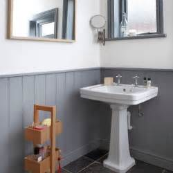 bathroom ideas grey and white grey and white panelled bathroom bathroom decorating housetohome co uk