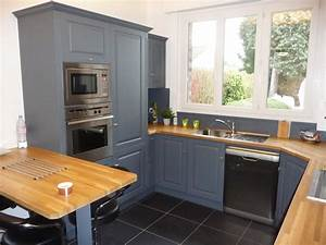 meubles cuisine gris 3 cuisine equip233e ch234ne gris With meuble cuisine gris clair