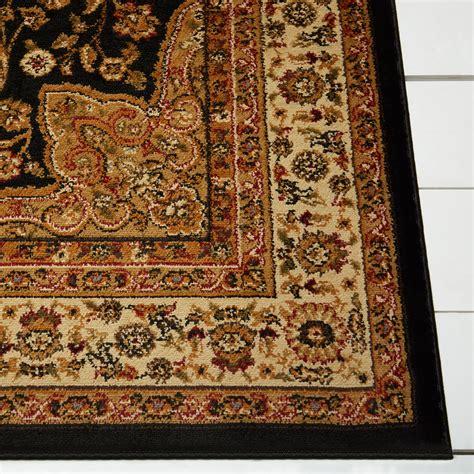 area rugs black black brown ivory medallion area rug 1335