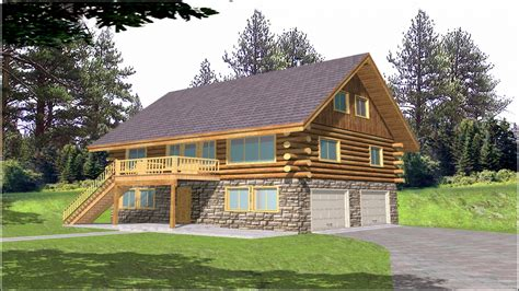 One Story Log Cabin House Plans Log Homes, One Story Log
