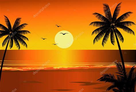 beach sunset stock vector  dagadu