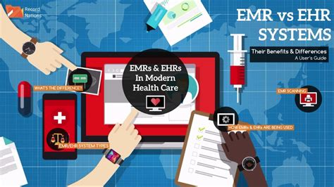 emr  ehr systems  differences