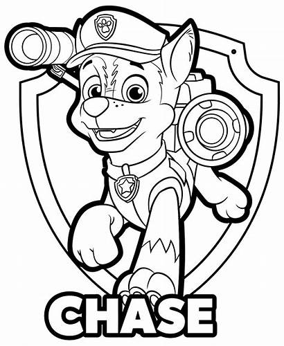Paw Patrol Coloring Pages Chase Sheets Fargelegging