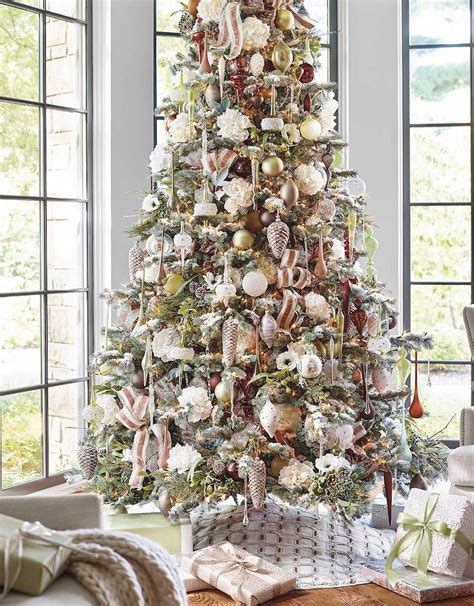 christmas decorating with natural elements frontgate elements 60 pc ornament collection winter frontgate