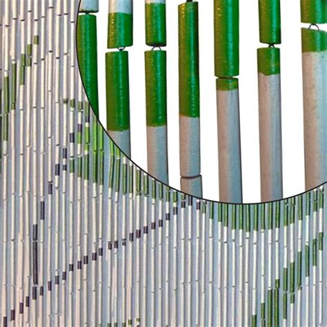 rideau de porte bambou imprim 233 feuilles eminza
