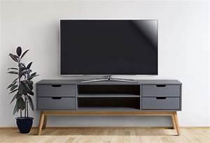 Meuble Tv En Coin : un meuble tv en bois pour cr er un coin t l chaleureux ~ Teatrodelosmanantiales.com Idées de Décoration