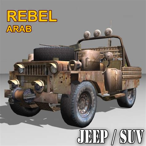 jeep rebel rebel suv jeep willys 3d model