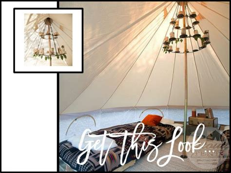 Bell Tent Chandelier by How To Throw A Boho Gling Fort Day Wedding Snippets