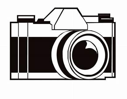 Camera Coloring Cartoon Clipart Pages Cameras Printable