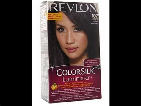 revlon colorsilk luminista hair dye review youtube