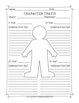 character traits graphic organizer worksheet fabulous free for school character traits