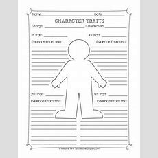 Character Traits Graphic Organizer Worksheet  Fabulous & Free For School  Character Traits