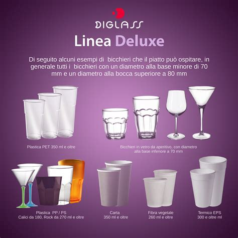 piatti bicchieri per feste 30 piatti deluxe biscomparto bianchi diglass