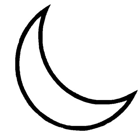 moon clipart black and white crescent moon clipart best