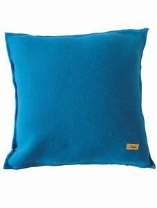 Coussin Bleu Canard : coussin 40x40 drap de savoie bleu canard ~ Teatrodelosmanantiales.com Idées de Décoration