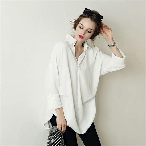 blouse cuisine femme oversized chiffon blouse sleeve chemise blanche