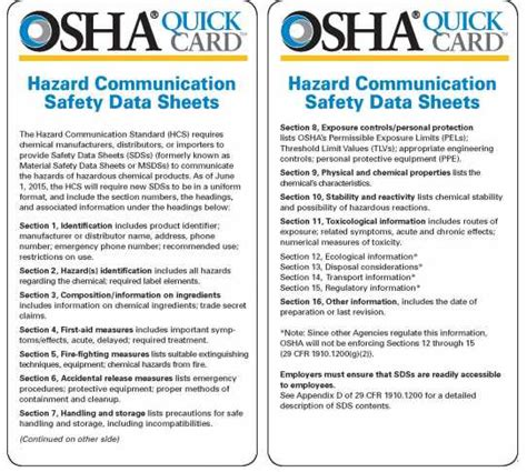 Osha Sds Template by 27 Images Of Sds Safety Data Sheet Template Leseriail