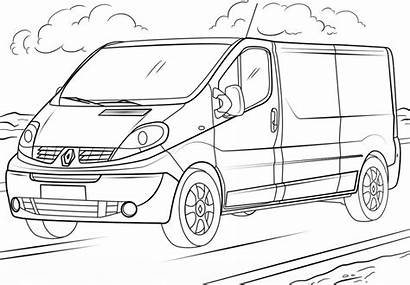 Coloring Renault Coloriage Trafic Voiture Printable Imprimer