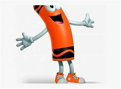 Clipart Orange Crayon Character Cartoon Crayola Characters