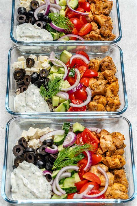 Clean Eating Greek Chicken Meal Prep Bowls Food Crush