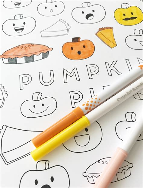 best markers for coloring thanksgiving pumpkin pie coloring page my s suitcase