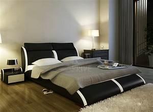 Lit En Cuir : lit en cuir italien de luxe arthus noir mobilier priv ~ Teatrodelosmanantiales.com Idées de Décoration