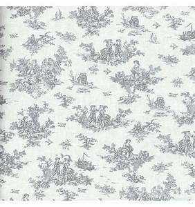 Toile De Jouy : la petite toile de jouy grey textiles fran ais ~ Teatrodelosmanantiales.com Idées de Décoration