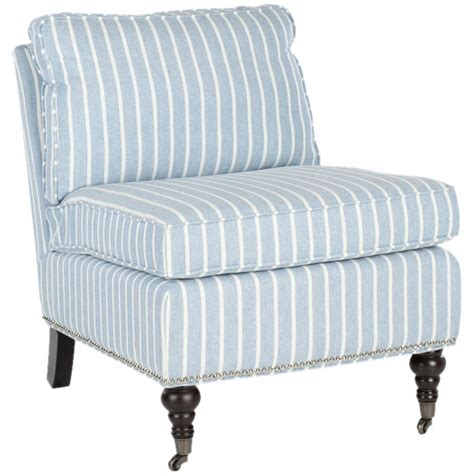 blue and white stripe accent chair for the home