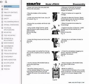 Komatsu Hydraulic Breaker Jpb200 Operation  U0026 Maintenance