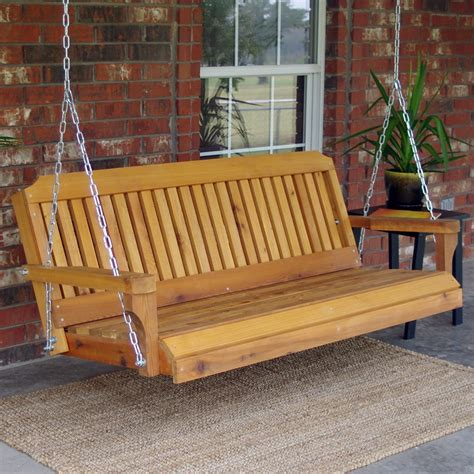 Wooden Porch Swings by Tmp Outdoor Furniture Traditional Cedar Wood Swing