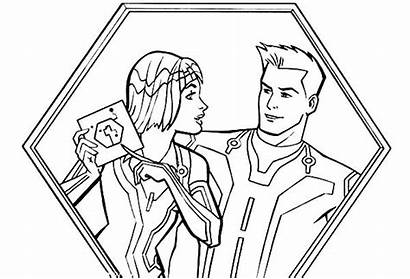 Danger Coloring Pages Tron Henry Sam Legacy
