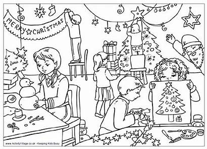 Coloring Classroom Pages Assassination Fish Christmas Printable