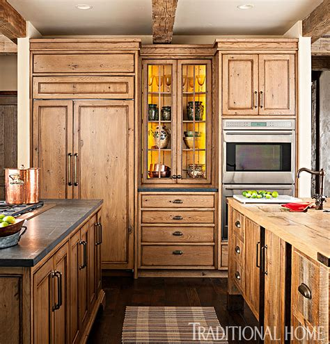 Spacious, Rustic Kitchen  Traditional Home