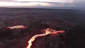 Kilauea Lava Flow Big Island  Hawaii On July 2016