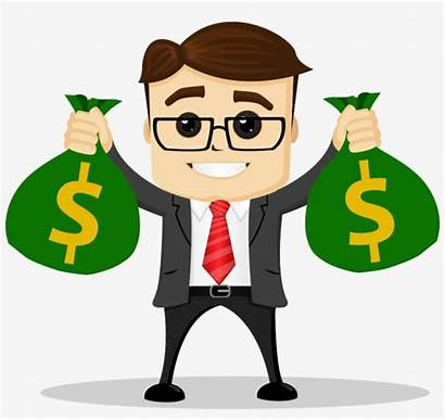 Money Clipart Simple Bags Business Guy Right