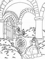 Rumpelstiltskin Coloring Pages Daughter Crying Template Miller sketch template