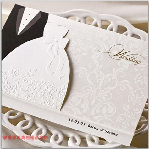 new personalized design white the bride and groom dress