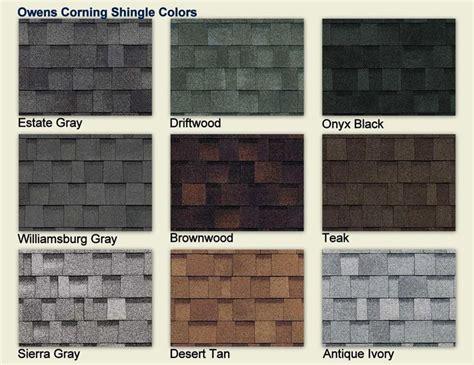 shingles colors owens corning shingle colors color chart owens corning