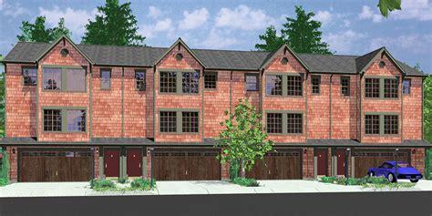 Triplex House Plans, 4 Plex Plans, Quadplex Plans