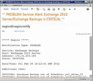 configuring e mail notifications in nagios core www With nagios email notification template