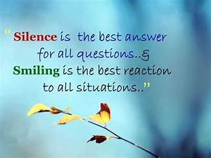 Life Quotes: Wh... Smile N Silence Quotes