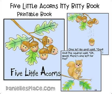 acorn and oak tree crafts and learning activities 726 | acorn book pic b