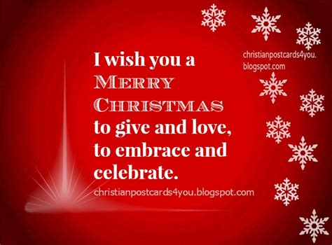 i wish you a merry christmas christian cards for you