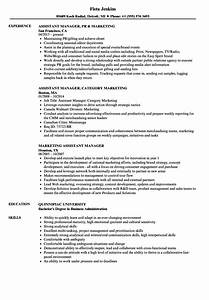 product manager sample resume marketing assistant manager resume samples velvet jobs