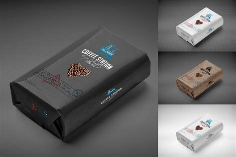 coffee bag mock  product mockups creative market