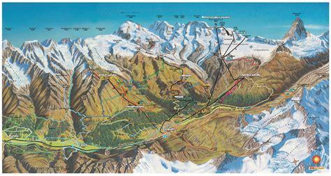 full size piste map  zermatt