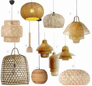 Suspension En Osier : lampe bambou et suspension dans la d coration clemaroundthecorner ~ Teatrodelosmanantiales.com Idées de Décoration