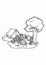 Camping Campeggio Acampar Disegno Kamperen Campen Kleurplaat Preschool Campamento Preschoolactivities Ausmalbild Educolor Schulbilder Educima Schoolplaten Kleurplaten Grote sketch template