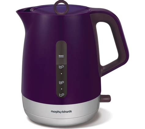 morphy richards plum kitchen accessories buy morphy richards chroma 101208 jug kettle plum free 9290