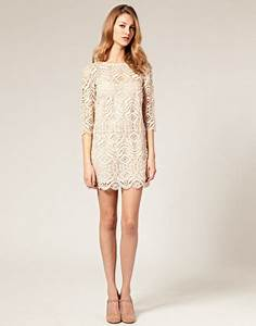 cream lace shift dress With shift dress for wedding